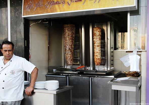 Aroos Damascus shawarma man. mithunonthe dot net