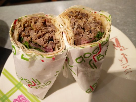 Zaroob shawarma. roundmenu