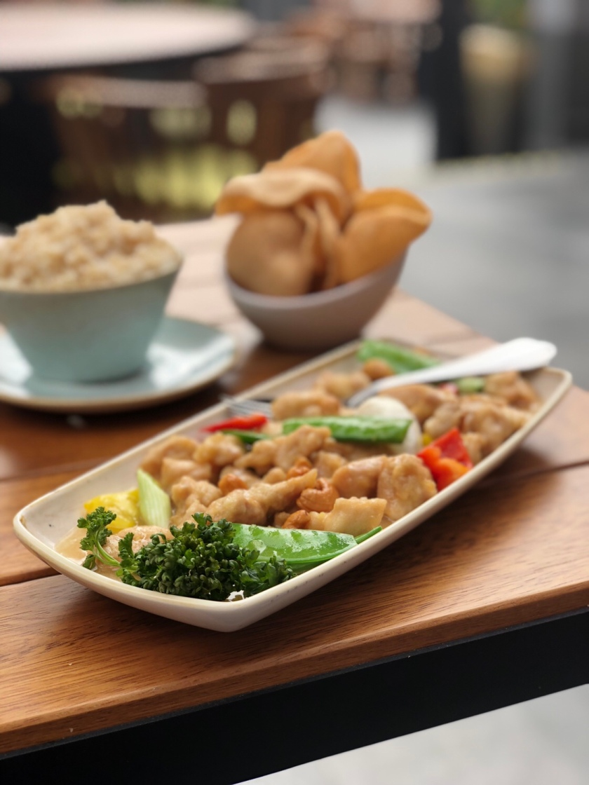 Chicken cashew nut at Soy